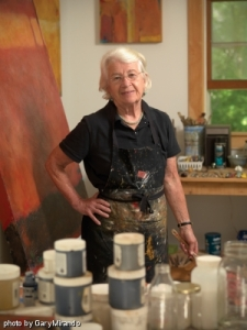 Marie Louise Rouff in her  Studio in Martha's Vineyard