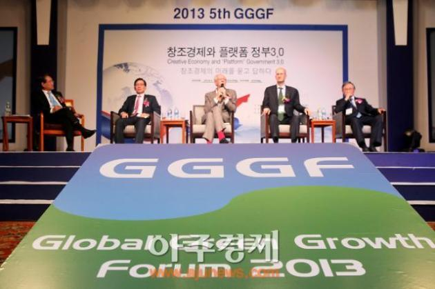 "Emanuel Pastreich & John Howkins (author of ""The Creative Economy"") on Global Green Growth Forum in Seoul (October 29, 2013)"