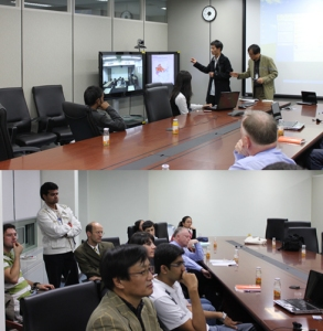 Asia Institute video seminar on the environment held at ETRI with students from Tsinghua University, Tsukuba University and KAIST.
