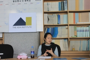 Annabel Park, founder of the Tea Party and political activist in the United States at Asia Institute seminar.
