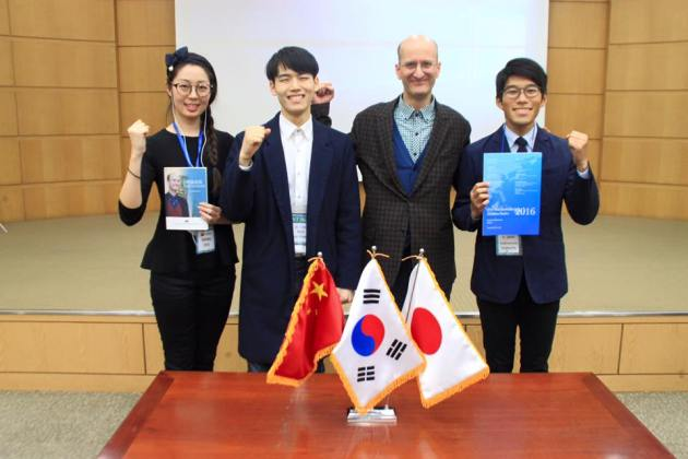 Students from China, Korea and Japan.